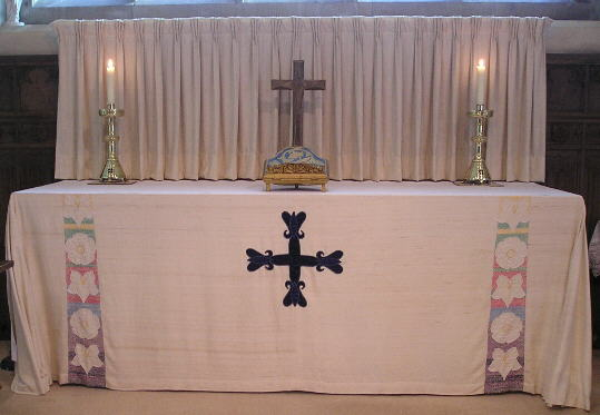 The altar with lenten furnishings